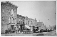 Old picture of downtown Pinckney